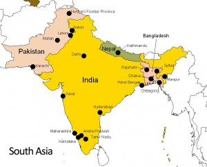 Unemployment In South Asia Opportunities And Contingencies Ephlux - South asia map